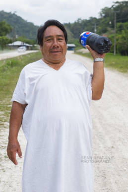 Lacandon Maya with 2 liter Pepsi, Nahá, Chiapas.