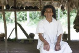 Don Antonio in his place of worship, Nahá Chiapas